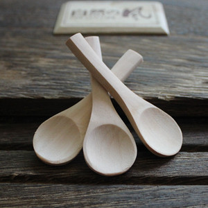 7 * 2.3cm à la main petit bois cuillère à café naturel poignée courte cuillère en bois thé cafetière cuillère