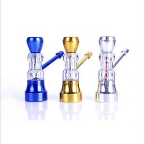 Atacado Mini cachimbos de tubulação de metal Tubulação de Mão colorido Acessórios Fumar Mini e Tubo Barato Frete Grátis