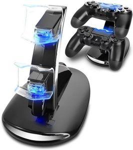 LED 변경 미니 USB 듀얼 충전 독 무선 컨트롤러 충전기 스탠드 마운트 Xbox One PS4 게임 패드 플레이 스테이션 소매 상자