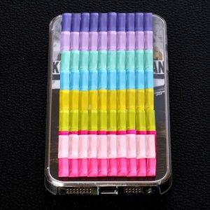 7x21mm Kawaii Rectangle Glass Flatback Rhinestone Flat Foiled Back Candy Color Glue On Stone For Phone case or Craft Deco 100pcs set