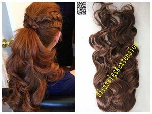 도라 물결 모양의 인간의 머리카락 포니 테일 흑인 여성을위한 긴 머리카락 끈으로 묶은 클립 포니 테일 확장 지저분한 짜다 검은 색 버진 브라질 머리카락