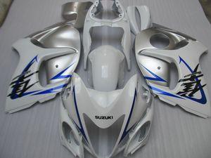 Injection mold free customize fairing kit for Suzuki GSXR1300 08 09 10 11-14 white silver fairings set GSXR1300 2008-2014 OT07