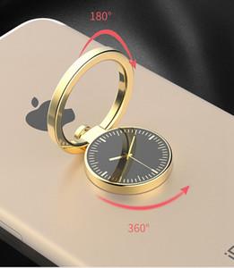 Watch Finger Ring Holder 보편적 인 이동 전화 Smartphone 시계 모양 Stander iPhone을위한 손가락 그립 똑똑한 전화 Luxury Couple Style