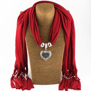 Cachecol jóias Pingente charme colar lenços de Moda das Mulheres macios lenços de Jóias Mix de Cores