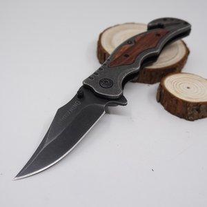 Brwoning Messer 233 Taschenklappmesser Tactical Combat Stone Wash Oberfläche Überlebensmesser Tarnungsholzgriff Schnellöffnendes Werkzeug für den Außenbereich