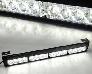 """16 LED 18 """"White Light Traffic Advisor Flash Flash Light Bar Avvertenza"""