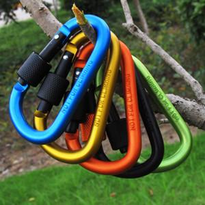 야외 기어 알루미늄 carabiner Carabiner 반지 열쇠 고리 열쇠 고리 스포츠 캠프 스냅 클립 후크 하이킹 알루미늄 금속 하이킹 캠핑 820