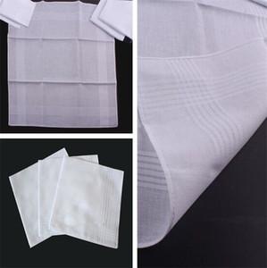 New high quality 100 pcs/lot cotton male table satin handkerchief square handkerchief whitest 38 * 38cm IC779
