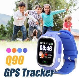 Q90 Bluetooth Smart Watch Детские Умные часы с GPS-местоположением WiFi SOS Call Tracker SmartWatch Анти Потерянный Монитор Для IOS Android в Коробке