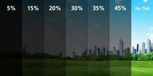 Солнечной окно тонировка фильм 35% / 5% 45% 25% 50% 70% стекло окно оттенок фильм для автомобиля переднего / левый и правый размер 1.52x30m/рулон 4.98x98ft