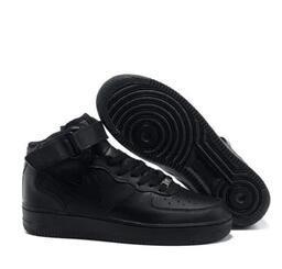 2017 los hombres NUEVOS de calidad superior forman la parte superior superior aire blanco zapatos casuales negro amor unisex uno 1 envío gratis euro 36-44