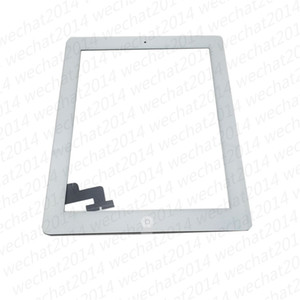 Touch Screen Glass Panel Digitizer with Buttons Adhesive Assembly for iPad 2 3 4 Black and White