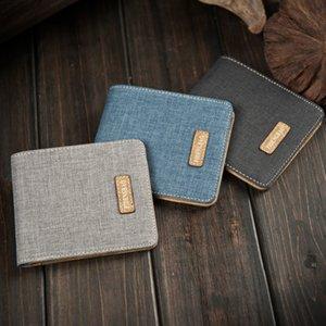 2016 новый ретро человек холст кошельки мужской кошелек мода держатели карт новый дизайн мульти карманы кошелек для мужчин небольшой холст Кошелек карты пакет