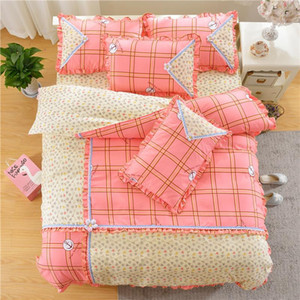 Duvet Cover Princess Full Warm Creative Bedding Sets For Girls Fashion Printing Bedding Comforter Sets With Lace Edges
