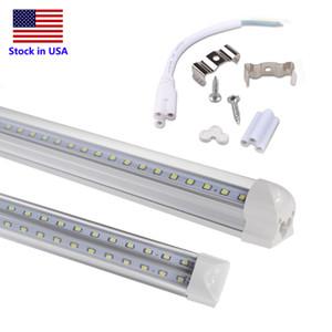 LED Tube 8ft Integrated LED Fluorescent Tube Lamp V Shape LED Cool Door Light 2ft 4ft 5ft 6ft 8ft 4 Rows Shop Light