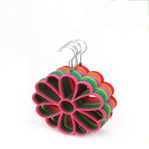 Antideslizante Tie Tie Almacenamiento en el hogar Artículos 13 Hole Scarf Hanger para Multi Color 3 3xg C R