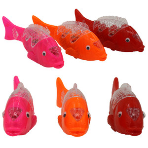 New electric with projection flash electric fish children music colorful light-emitting toys night market stalls supplies wholesale