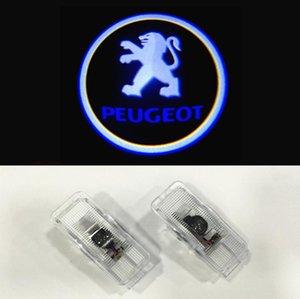 2pcs / set Per il marchio Peugeot porta fantasma wireless Ombra Lampada benvenuta del laser proiettore di luce per 508 408 308 3008 4008 5008 CRZ