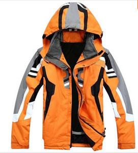 Ropa deportiva al aire libre de alta calidad de la chaqueta de esquí de los hombres traje de esquí a prueba de viento impermeable ropa de esquí