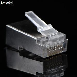 5000 шт. / лот высокое качество металлический экран RJ45 8P8C сеть CAT5E модульный штекер RJ-45 CAT5 Ethernet Lan кабель модульный штекер адаптер разъем