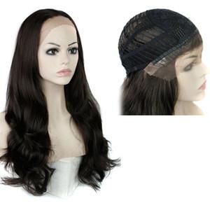 Perruques de cheveux synthétiques Perruque en dentelle Big Wavy 28inch résistant à la chaleur Noir Blonde Longue perruques synthétiques