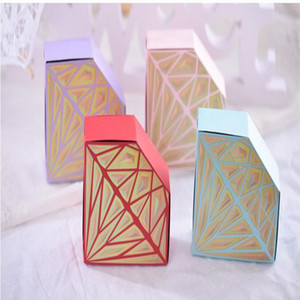 Luxury Paper Diamonds Creative Wedding Favor Candy Boxes Gift Bags pink purple Birthday Party Festival Candy Box Favor Holders