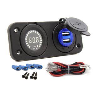 4.2A zwei Ports USB Ladebuchse 12V Voltmeter Panel