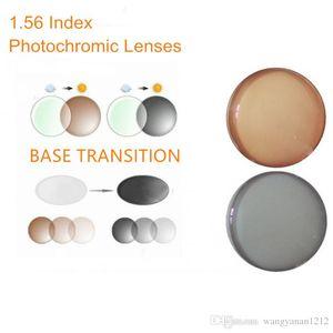 1,56 Index Rezeptpflichtige Photochrome Linsen Übergang Graue Braun Linsen für Myopie / Hyperopie Blend Sonnenbrille Objektiv O156