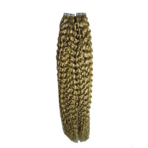 Bande vierge brésilienne dans les extensions de cheveux remy 40 pièces 100g extensions de cheveux bouclés bande droites 40pcs peau extensions de cheveux sans couture