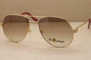 Yüksek quanlity Fabrika doğrudan satış 1324912 Sunglasses açık havada sürüş gözlük moda C Dekorasyon altın çerçeve gözlük Boyutu: 58-16-140mm