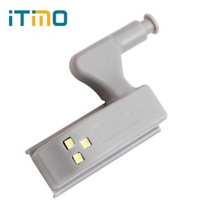 Wholesale- Practical Cabinet Light 3 LEDs High Quality Wardrobe Battery Lights Door Autoswitch LED Light Cabin Lamp Intelligent Night Light