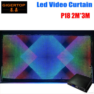 P18 2M * 3M LED فيديو الستار، سريع SD تحكم السفينة LED الرؤية الستار مع الخط المهنية PC / لDJ الخلفيات العرض LCD