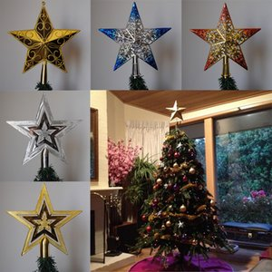 PF Рождественская елка Топпер Star Plastic Tree Рождественская звезда Топпер для декора Таблица Красочный Craft Xmas DIY аксессуары