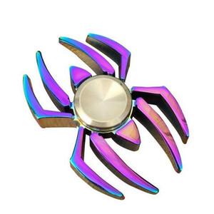 Gökkuşağı Renk Örümcek EDC Fidget Spinner Metal Parmak Oyuncak El Spinner DEHB Rahatlatmak için Anksiyete Masası Oyuncaklar Çocuk Hediye