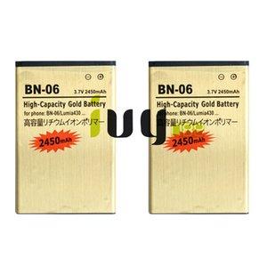 2 pçs / lote 2450 mah bn-06 bn06 bn 06 bateria de substituição de ouro para microsoft nokia lumia 430 lumia430 baterias batterij batterij