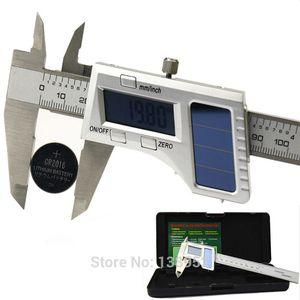 Freeshipping Qualität 150mm 0.01mm Solar Digital Caliper Edelstahl Solar Power elektronische Nonius-Messgerät Mikrometer