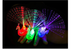 새로운 창조적 인 공작 손가락 조명 아이 LED 플래시 글로우 링 램프 크리스마스 파티 장식 어린이 생일 선물 장난감