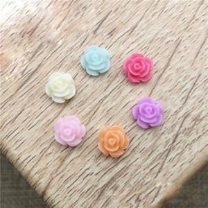 Flower Micro Landscape Crafts Figurines For Garden Decoration Resin DIY Rose Ornaments Plant Decoration Resin Flower Flatback
