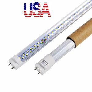 T8은 28W 2500 루멘 높은 밝은 빛 튜브 AC 110-240V 재고 미국 주도 튜브를 두 번 행을 4 피트