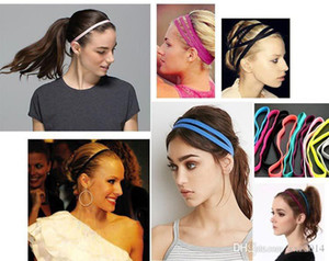 High-qualityWholesale fashion euro-star Hair Band ,Best for yoga sports Polyester women double elastic headbands Wear Yoga hair accessories