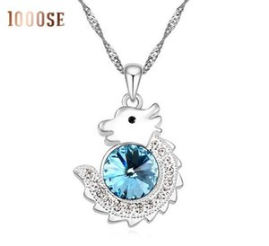 2017 nouveau 1000se Zodiac Chinois Loong Autriche Cristal Collier Ornements Pendentif Femme Bijoux vente