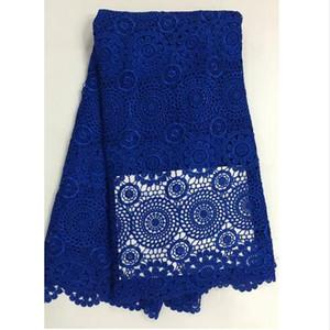 tessuto africano del merletto del guipure di alta qualità tessuto africano del merletto del cavo 5 yards tessuto guipure nigeriano del merletto di nozze poco costoso