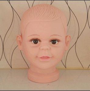 Freeshipping atacado PVC Realistic Plástico Bebê / criança crianças manequim manequim cabeça para peruca chapéu óculos de sol cabeça de exibição manequim 1 pc b617
