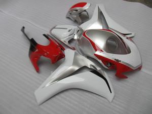 Kit carene 7 gif stampate a iniezione gratis per HONDA CBR1000RR set carene argento rosso 2008-2011 CBR1000RR 08 09 10 11 OT17