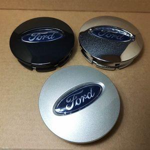 Para Ford Edge Explorer Roda Hub Centro Cap Roda Caso Cobre Emblema 66mm Galvanoplastia / Prata / Preto 4 PCS / SET