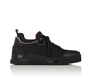 2017 новый черный Aurelien плоские кроссовки мужские кроссовки Красное дно обувь мужчины двойной цвет заклепки низкое качество Оптовая