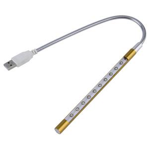 NEW Metal Material USB LED light lamp 10LEDs تشكيلة متنوعة من الألوان لأجهزة الكمبيوتر المحمول
