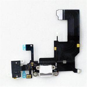 USB Conector Dock de carga del puerto de auriculares y conector de audio de la flexión cinta del cable para el iPhone 5 5s 5c 6 6 Plus Negro Blanco
