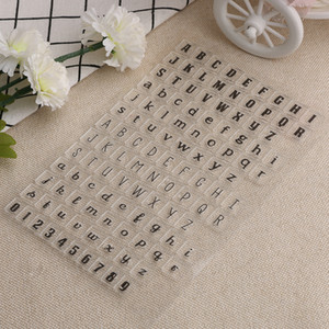 Wholesale- New 1 pc Alphabets Number Transparent Clear Silicone Stamps DIY Scrapbooking Card Making Scrapbooking DIY Tool