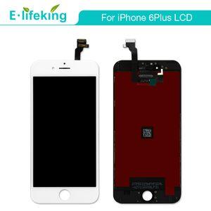 Para iPhone 6 6 Plus Pantalla LCD Pantalla táctil Pantalla táctil Digitalizador No Dead Pixel Negro Color blanco + DHL gratis para iPhone 6 6P